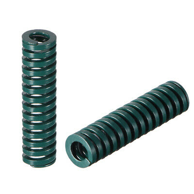 8x 30mm Long Spiral Stamping Heavy Load Compression Mould Die Spring Green 10Pcs