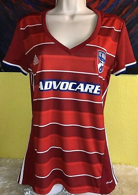 new arrivals 5d073 a2feb WOMEN'S ADIDAS CLIMALITE MLS FC Dallas Soccer Jersey Size Large Red