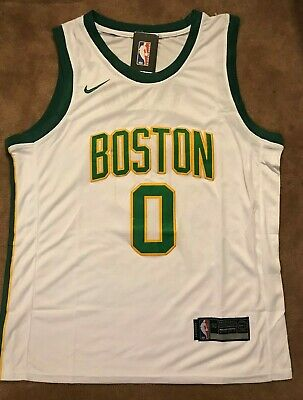 new concept 26466 8eb3f NEW MENS BOSTON Celtics City Jayson Tatum Swingman Jersey XL
