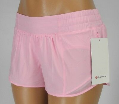Lululemon Womens Run Speed Shorts Pink Yoga Gym Athletic Lined Shorts Size 4 15 60 Picclick