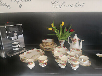 Royal Albert old country roses englisches Kaffee- / Essservice 38tlg edel