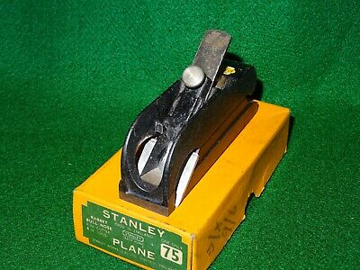 OLD STANLEY BULL NOSE / RABBET PLANE No 75 EXCELLENT CONDITION IN ORIGINAL BOX