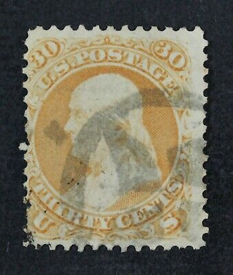 CKStamps: US Stamps Collection Scott#71 30c Franklin Used Pulled Perfs CV$190