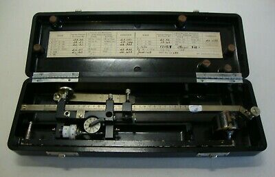 Early 20th century cased planimeter made by Allbrit
