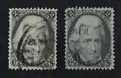 CKStamps: US Stamps Collection Scott#73 (2) 2c Jackson Used CV$130