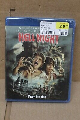 NEW SEALED - Hell Night (Collectors Edition Blu-ray + Dvd Combo Pack Disc, 2018)