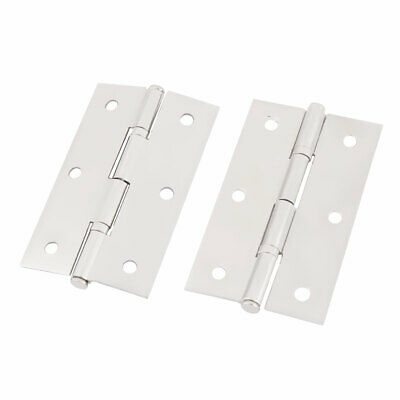 2 Pcs 304 Stainless Steel Door Hinges with 2.8 Inch Length for Cabinet Window