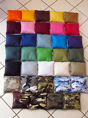 8 Cornhole Bags, 4 each your choice of colors 38 colors & camo camouflage