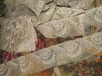 "1 yd Vintage Antique French Dark Gold Metallic Lace Trim 5//16/"" Lampshade Pillow"