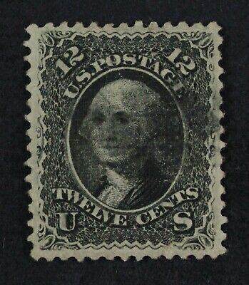 CKStamps: US Stamps Collection Scott#90 12c Washington Used Tiny Tear