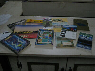 Lot Of 11 Alaska Books Pamphlet Almanacs National Geographic Climbers Guide Map