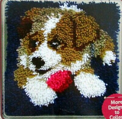 "Latch Hook   Rug/ Pillow  Kit  ""Puppy"" Latch Tool Included"