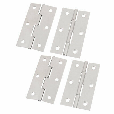 4 Pack of 304 Stainless Steel Door Hinges with 1.7 Inch Length for Closet Window