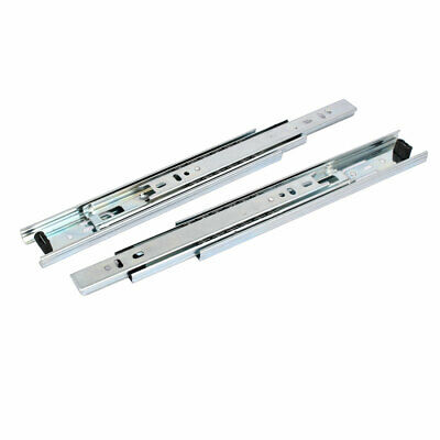 9-inch 3 Sections Telescoping Ball Bearing Damper Drawer Slide Silver Tone 2pcs