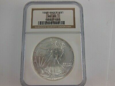 1987 US American Silver Eagle MS69 NGC