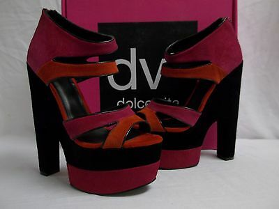 ab8eb904e47 DV8 Dolce Vita Size 8.5 M Prima Hot Pink Suede Open Toe Heels New Womens  Shoes