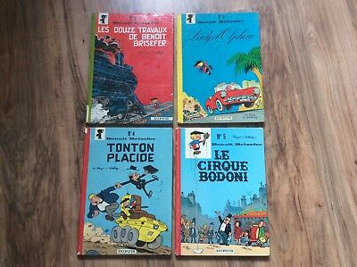 PEYO Lot de 4 BDs anciens dos rond BENOIT BRIESEFER EO Édition originale