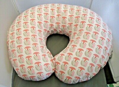 Boppy Nursing Pillow with Pink Owl Print Cover