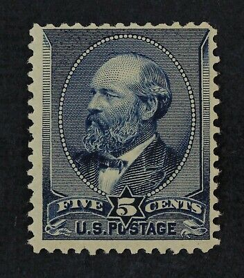CKStamps: US Stamps Collection Scott#216 5c Garfield Mint H OG Light Gum Disturb