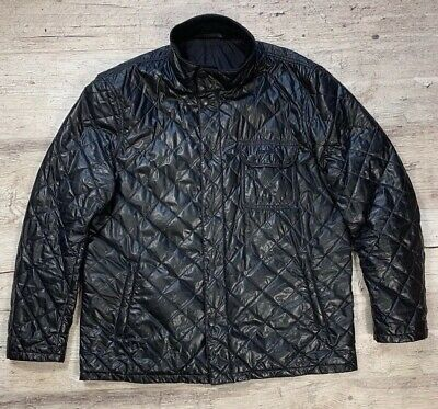 Men`s Barbour International Buff Finchley Black Quilted Jacket Size XL-XXL