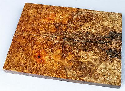 Oversized Amboyna Burl, Stabilized Knife Scales, Grips, Craft Wood SCL7393