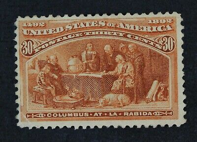 CKStamps: US Stamps Collection Scott#239 30c Mint H OG Gum Dist Thin CV$240