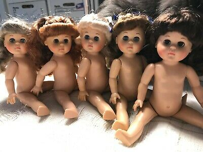 1988 Vogue Ginny Dolls,  Lot of 5, Nude, Jointed, Hard plastic