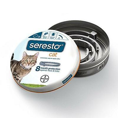Bayer Seresto Flea and Tick Collar for Cat, all weights, 8 Month Protection