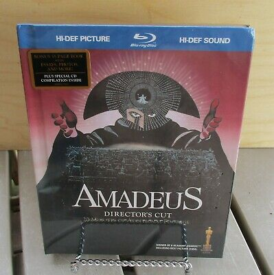 Amadeus (Blu-ray Disc, 1984, 2-Disc Set, with Bonus CD) Digibook NEW Sealed