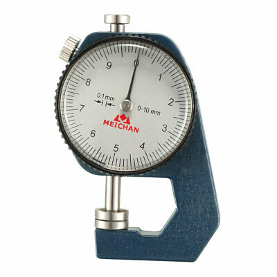 Thickness Gauge,0-10mm x 0.1mm Range Round Dial Indicator Thickness Gauge