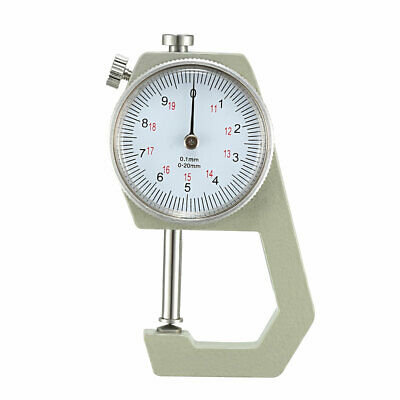 Thickness Gauge,0-20mm x 0.1mm Cusp Head Dial Thickness Gauge Measuring Tool