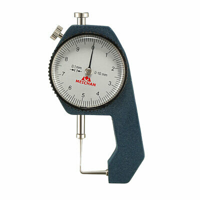 Thickness Gauge,0-10mm x 0.1mm Range Thickness Gauge suited for Measuring Tubes.