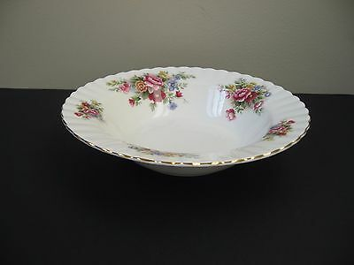 Vtg ROYAL ALBERT BONE CHINA CHELSEA GARDEN RIMMED SOUP BOWL FLORAL SPRAYS