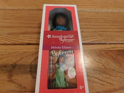 "American Girl Melody Ellison  6 "" Mini Doll  + Mini Book Nib  Free Shipping"