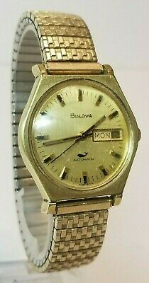 Vintage BULOVA Automatic Sea King Whale 10k RGP Gold Plate Watch Working 1972