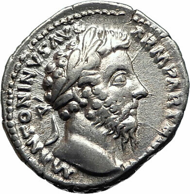 MARCUS AURELIUS Authentic Ancient 168AD Silver Roman Coin EQUITY AEQUITAS i74781