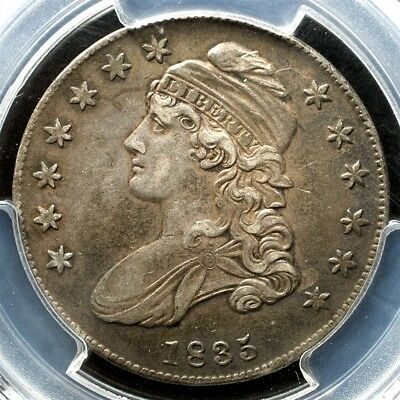 1835 Capped Bust Half Dollar, Overton O-107 Variety - PCGS XF45, CAC Approved