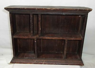 Antique Wooden Miniature Book Case Shelf Vintage Salesman Sample