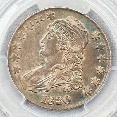 1830 Capped Bust Half Dollar Overton O-121 - PCGS XF45 -Large 0- CAC Certified
