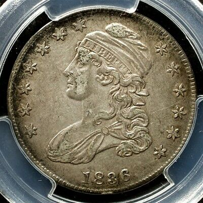 1836 Capped Bust Half Dollar, Overton O-109 Variety - PCGS AU50, CAC Approved