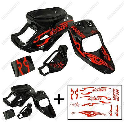 Fairings Shiny Black Graphic Tribal Red Mens Apply MBK Booster Spirit' 88'/03
