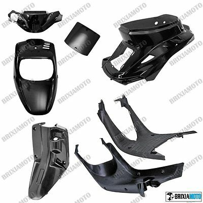 Set Fairing Fairings Yamaha Bws BW'S MBK Booster Spirit '88 '03 7 Pcs Black