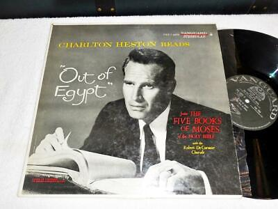 CHARLTON HESTON reads 'Out of Egypt'~VANGUARD STEREOLAB ORIG SOUNDTRACK LP NICE
