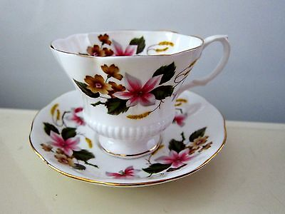 Royal Albert Flowers Gold Decoration Tea Coffee Cup Saucer