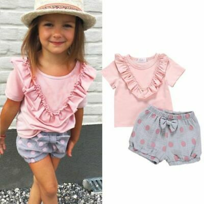 Girl Clothes Set Summer Toddler Kid Outfit T-Shirt Top Shorts Children Clothing