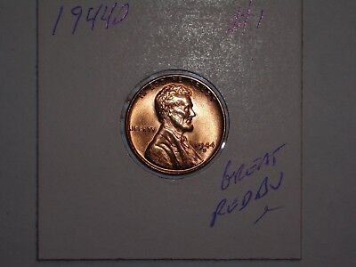 wheat penny 1944D LINCOLN CENT 1944-D GEM RED BU LOT #1 SHARP UNC RED LUSTER