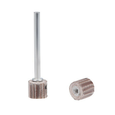 "2 Pcs 8x8mm Flap Wheel 600 Grits Abrasive with 1/8"" Shank for Rotary Tool"