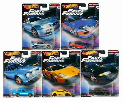 2019 Hot Wheels Fast & Furious Fast Imports Premium 1/64 Set Of 5 Real Riders  ~