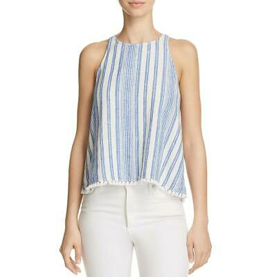 ea359e7c Bella Dahl Womens Blue Striped Sleeveless Swing Tank Top Shirt L BHFO 9461