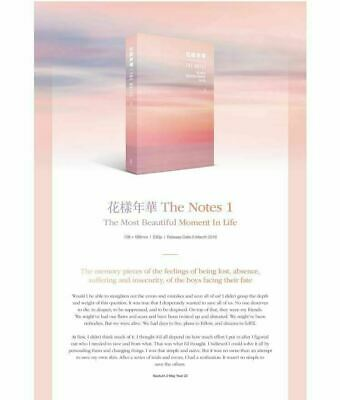 BTS 花樣年華 THE NOTES  E.ver  Special Notes Not Including Official Goods NEW